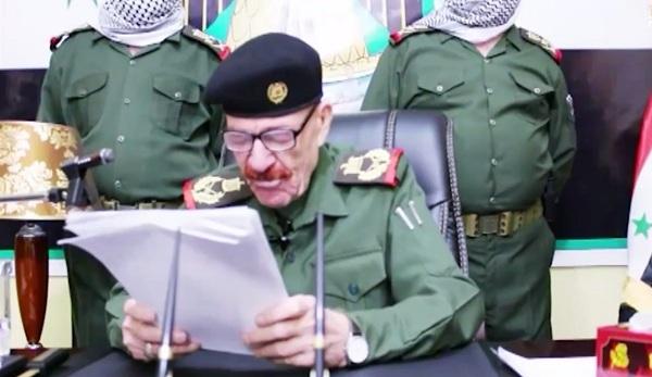 عزة الدوري يظهر في فيديو ويدعو إلى «مطاردة عملاء إيران»