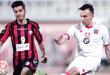 شادي الهمامي لاعب الكويت يسدد على مرمى خيطان  - «الازرق»