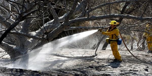 السيطرة على حريق غابات بالقرب من لوس أنجلوس