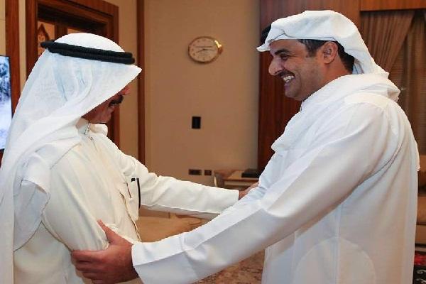 تميم بن حمد بحث مع الخالد العلاقات الثنائية وسبل تنميتها