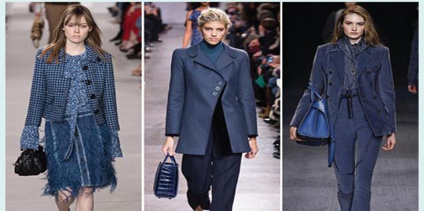 الأزرق الغامض.. موضة ملابس الخريف والشتاء القادمين