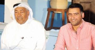 سعد الفرج وأحمد إيراج في المؤتمر الصحافي - تصوير عبدالصمد مصطفى
