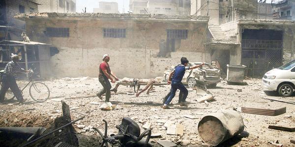 مشهد القتل اليومي بالغارات والبرالميل المتفجرة