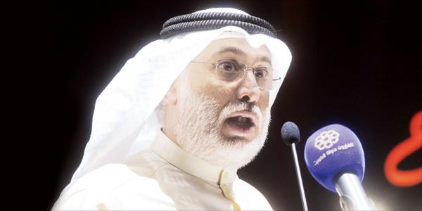 عبدالله عبدالرسول يلقي كلمته
