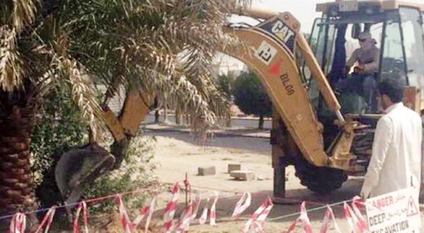 إزالة معوقات تطوير شارع الغوص