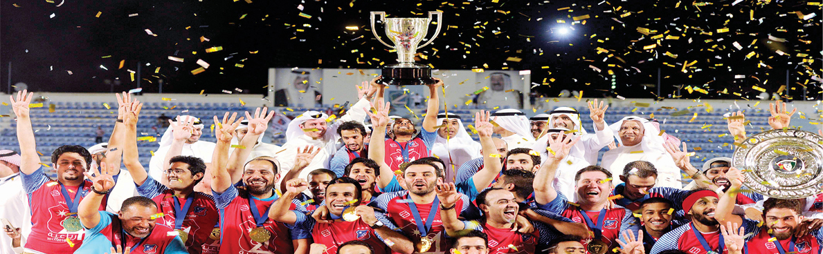 الكويت يحقق رباعية تاريخية ويتوج بلقب الدوري