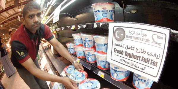 «منتجات آتية من تركيا جواً» في الأسواق القطرية - (الأناضول)
