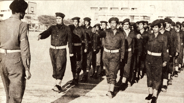 نشرت الصورة في القبس بتاريخ 13 يناير 1975 بعنوان بدأ التدريب العسكري بالمدارس