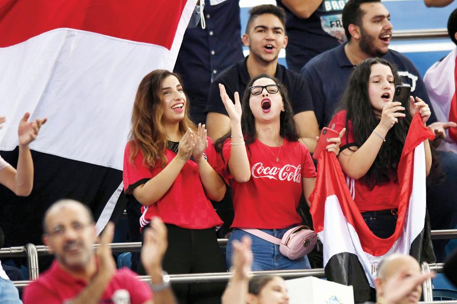 الجماهير المصرية ساندت منتخبها