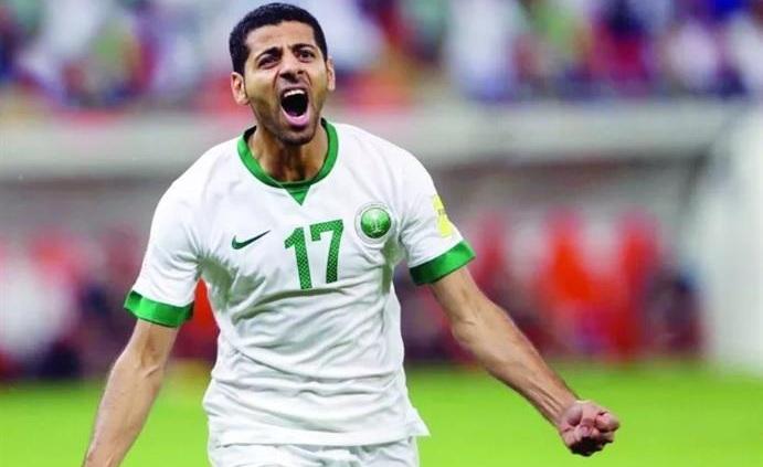 لاعب المنتخب السعودي تيسير الجاسم يتوعد الأوروغواي