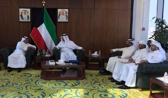 وزير العدل يستقبل وفد جمعية الحقوقيين الكويتية