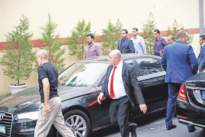 الفريق التركي - السعودي المشترك يزور مقر القنصلية