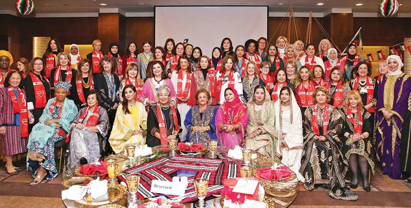 عضوات «المرأة الدولية» احتفلن بعيدَي الوطني والتحرير
