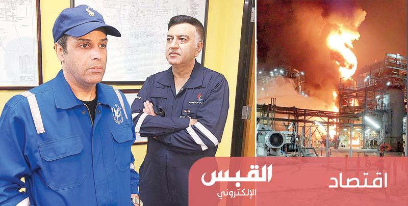تحقيق في أسباب حريق مصفاة ميناء عبد الله