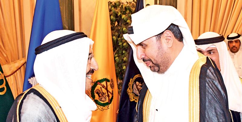 حمد جابر العلي مهنئاً سموه