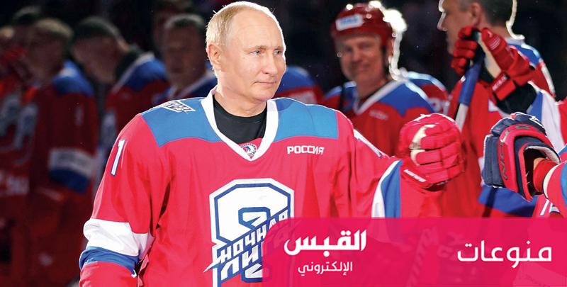 بوتين يسجل 8 أهداف في مباراة لهوكي الجليد