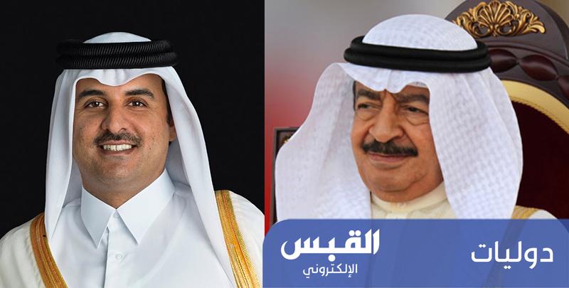 رئيس وزراء البحرين يهنئ أمير قطر بشهر رمضان