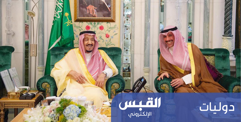 خادم الحرمين يستقبل رئيس مجلس الأمة مرزوق الغانم