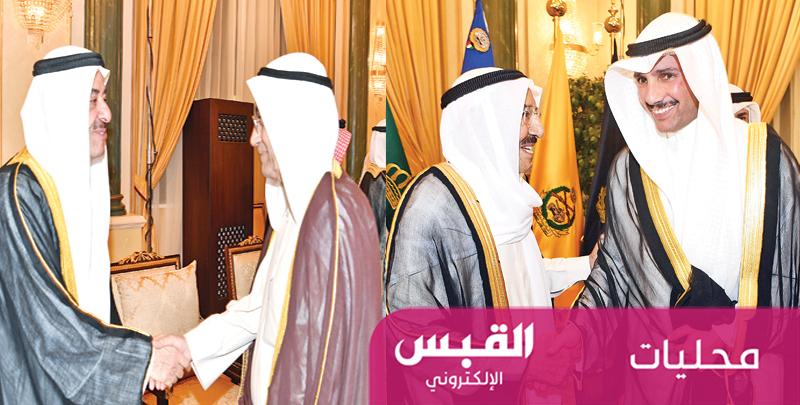 الأمير وآل الصباح استقبلوا المهنئين برمضان