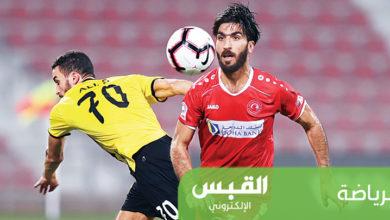 أحمد إبراهيم في لقاء سابق مع فريقه العربي القطري